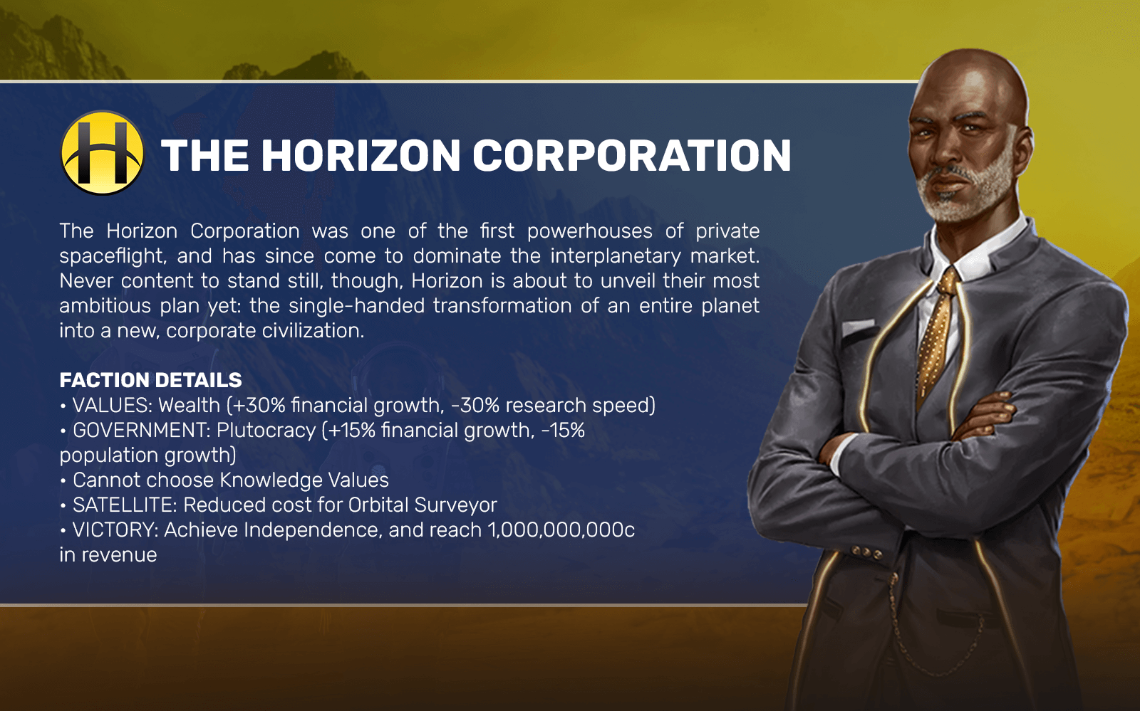 THE HORIZON CORPORATION