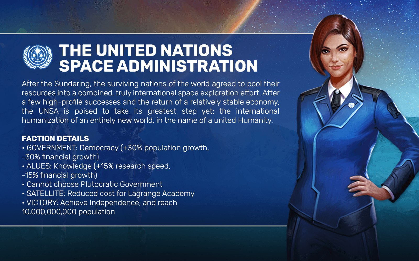 THE UNITED NATIONS SPACE ADMINISTRATION